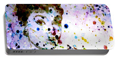 Portable Battery Charger featuring the digital art Paint Drops by Brian Reaves