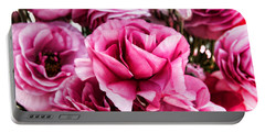 Paint Me Pink Ranunculus Flowers By Diana Sainz Portable Battery Charger