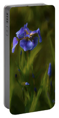 Painted Alaskan Wild Irises Portable Battery Charger