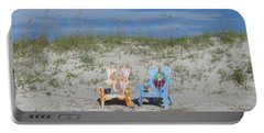 Painted Beach Chairs Portable Battery Charger