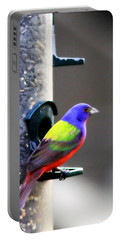 Painted Bunting - Img 9757-002 Portable Battery Charger by Travis Truelove