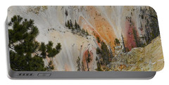 Portable Battery Charger featuring the photograph Painted Canyon At Lower Falls by Michele Myers