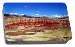 Portable Battery Charger featuring the photograph Painted Hills by Chalet Roome-Rigdon