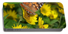 Portable Battery Charger featuring the photograph Painted Lady by James Peterson