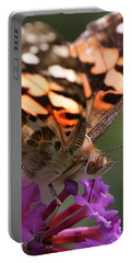 Painted Lady On Butterfly Bush Portable Battery Charger