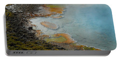 Portable Battery Charger featuring the photograph Painted Pool Of Yellowstone by Michele Myers