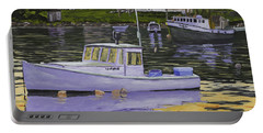 Fishing Boats In Port Clyde Maine Portable Battery Charger by Keith Webber Jr