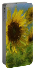 Painty Sunflower Portable Battery Charger