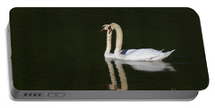 Pair Of Mute Swans Portable Battery Charger