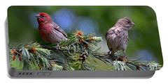 Pair Of Purple Finches Portable Battery Charger