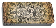 Portable Battery Charger featuring the photograph Pakal Sarcophagus Lid 1 by Gary Keesler