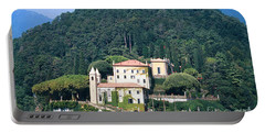 Portable Battery Charger featuring the photograph Palace At Lake Como Italy by Greta Corens