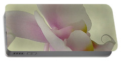 Pale Orchid On Cream Portable Battery Charger by Barbie Corbett-Newmin