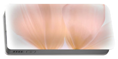 Pale Pink Tulips With Vignette Portable Battery Charger