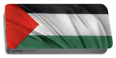 Palestine Flag Portable Battery Charger by Les Cunliffe