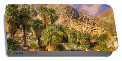 Palm Oasis In Late Afternoon Portable Battery Charger
