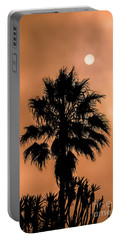 Portable Battery Charger featuring the photograph Palm Silhouette At Sunset by David Millenheft