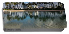 Palm Trees Crystal Clear Lagoon Water And Tropical Fish Portable Battery Charger