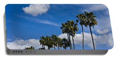Palm Trees In San Diego California No. 1661 Portable Battery Charger by Randall Nyhof