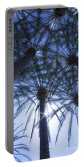 Portable Battery Charger featuring the photograph Palm Trees In The Sun by Jerry Cowart