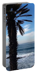 Palm Waves Portable Battery Charger by Susan Garren
