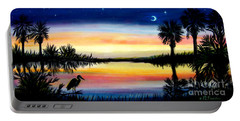 Palmetto Tree Moon And Stars Low Country Sunset IIi Portable Battery Charger