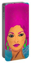Pam Grier Bold Diva C1979 Pop Art Portable Battery Charger