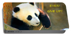 Panda Baby Bear Never Ever Ever Give Up Portable Battery Charger