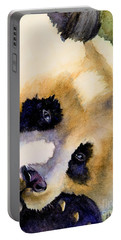 Portable Battery Charger featuring the painting Panda Cub by Bonnie Rinier