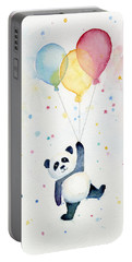 Panda Floating With Balloons Portable Battery Charger