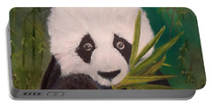 Portable Battery Charger featuring the painting Panda by Jenny Lee
