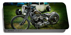 Panhead Harley And Ford Pickup Portable Battery Charger