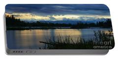 Pano Denali Midnight Sunset Portable Battery Charger by Jennifer White