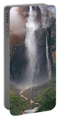 Panorama Angel Falls In Canaima National Park Venezuela Portable Battery Charger
