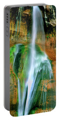 Portable Battery Charger featuring the photograph Panorama Lower Calf Creek Falls Escalante Nm Utah by Dave Welling