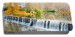 Panorama Of Buck Creek In Autumn Portable Battery Charger