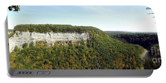 Panorama Of Cliff At Letchworth State Park Portable Battery Charger