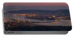 Panorama Of Ferrol From Mount Marraxon Galicia Spain Portable Battery Charger