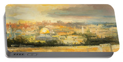 Panorama Of Jerusalem Portable Battery Charger