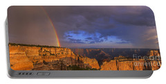 Portable Battery Charger featuring the photograph Panorama Rainbow Over Cape Royal North Rim Grand Canyon National Park by Dave Welling