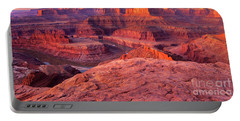 Portable Battery Charger featuring the photograph Panorama Sunrise At Dead Horse Point Utah by Dave Welling