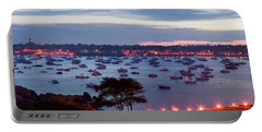 Panoramic Of The Marblehead Illumination Portable Battery Charger by Jeff Folger