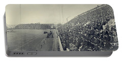 Panoramic Photo Of Harvard  Dartmouth Football Game Portable Battery Charger by Edward Fielding