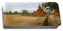 Portable Battery Charger featuring the photograph Panoramic View Next To Dhammayazika Pagoda Built In 1196 By King Narapatisithu by Ralph A  Ledergerber-Photography