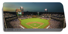 Panoramic View Of 29,183 Baseball Fans Portable Battery Charger