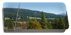 Panoramic Yellowstone Landscape Portable Battery Charger by Jennifer White