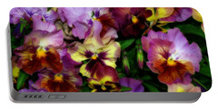Pansy Mania Portable Battery Charger by Diane Schuster