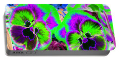 Pansy Power 60 Portable Battery Charger by Pamela Critchlow