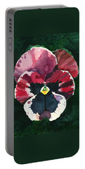 Pansy Red Portable Battery Charger