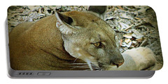 Panther Portable Battery Charger by Debra Forand